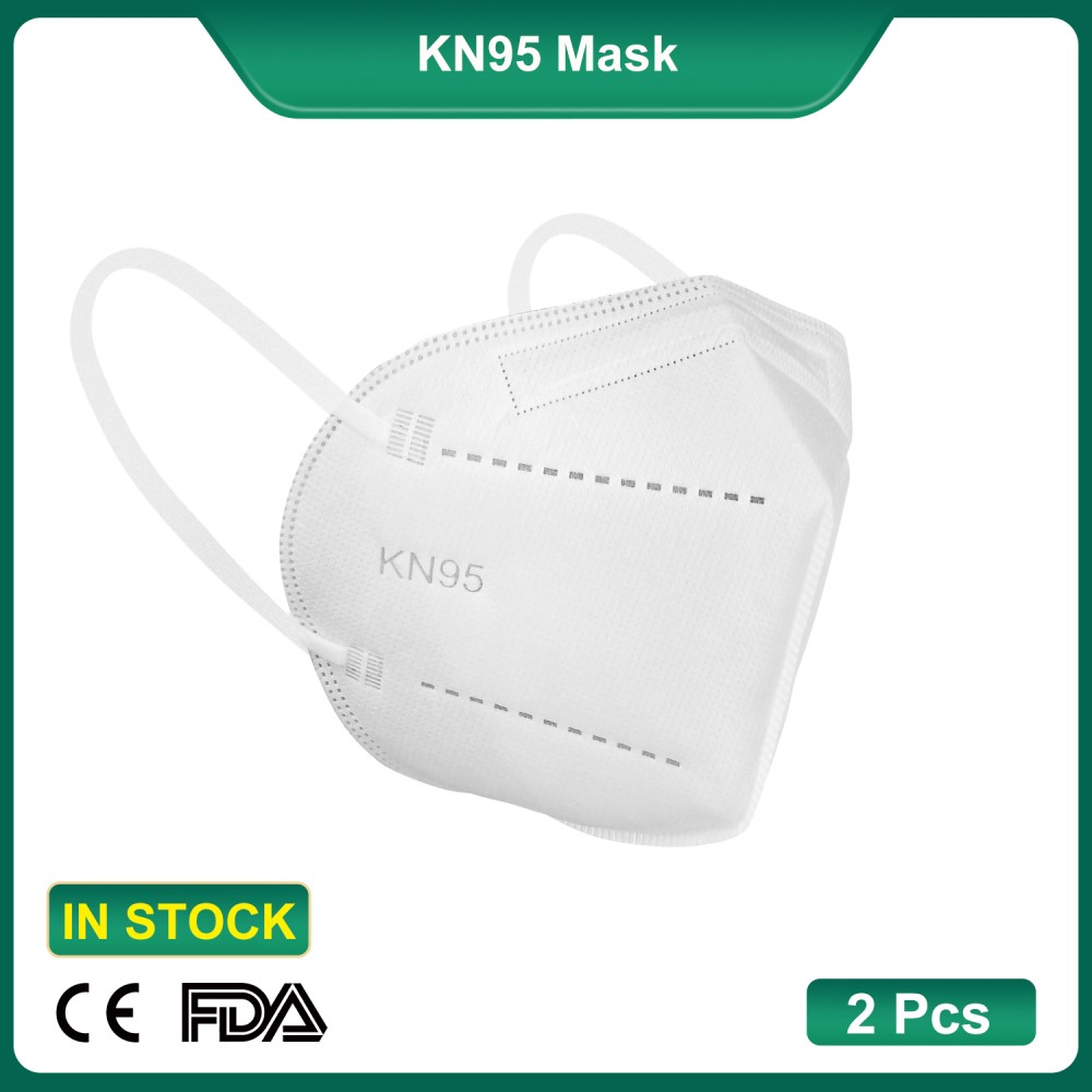 (Best selling)2Pcs/Bag CE/FDA Certified FFP2 KN95 Respirator Dustproof Anti-Droplet Mask Air Filter Earloop Mask (Daily Production: 100K)