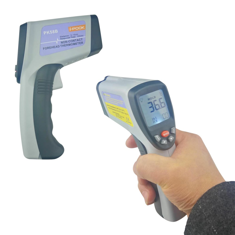 CE Certified LCD Forehead Body Temperature Meter Digital Non-contact IR Infrared Thermometer