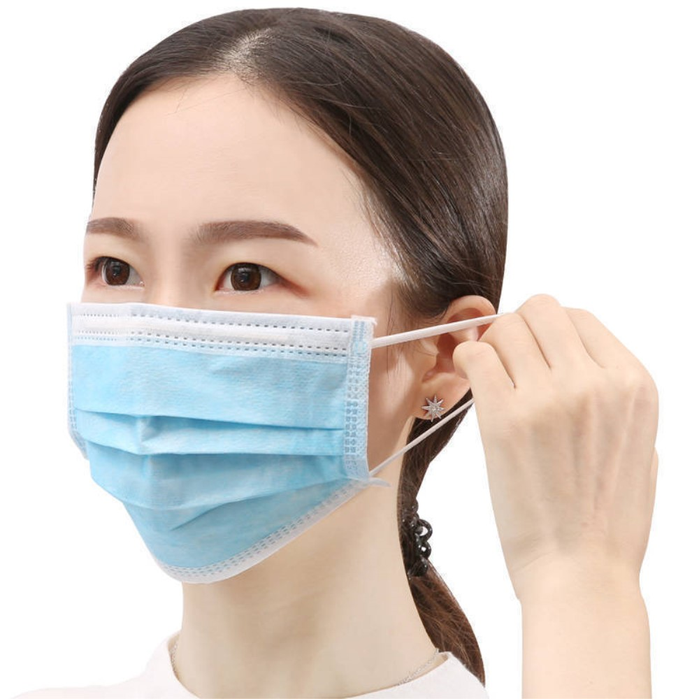 50Pcs/Box CE Certified Disposable Three-layer Protective Medical Masks, Daily Production: 100-150K/Day