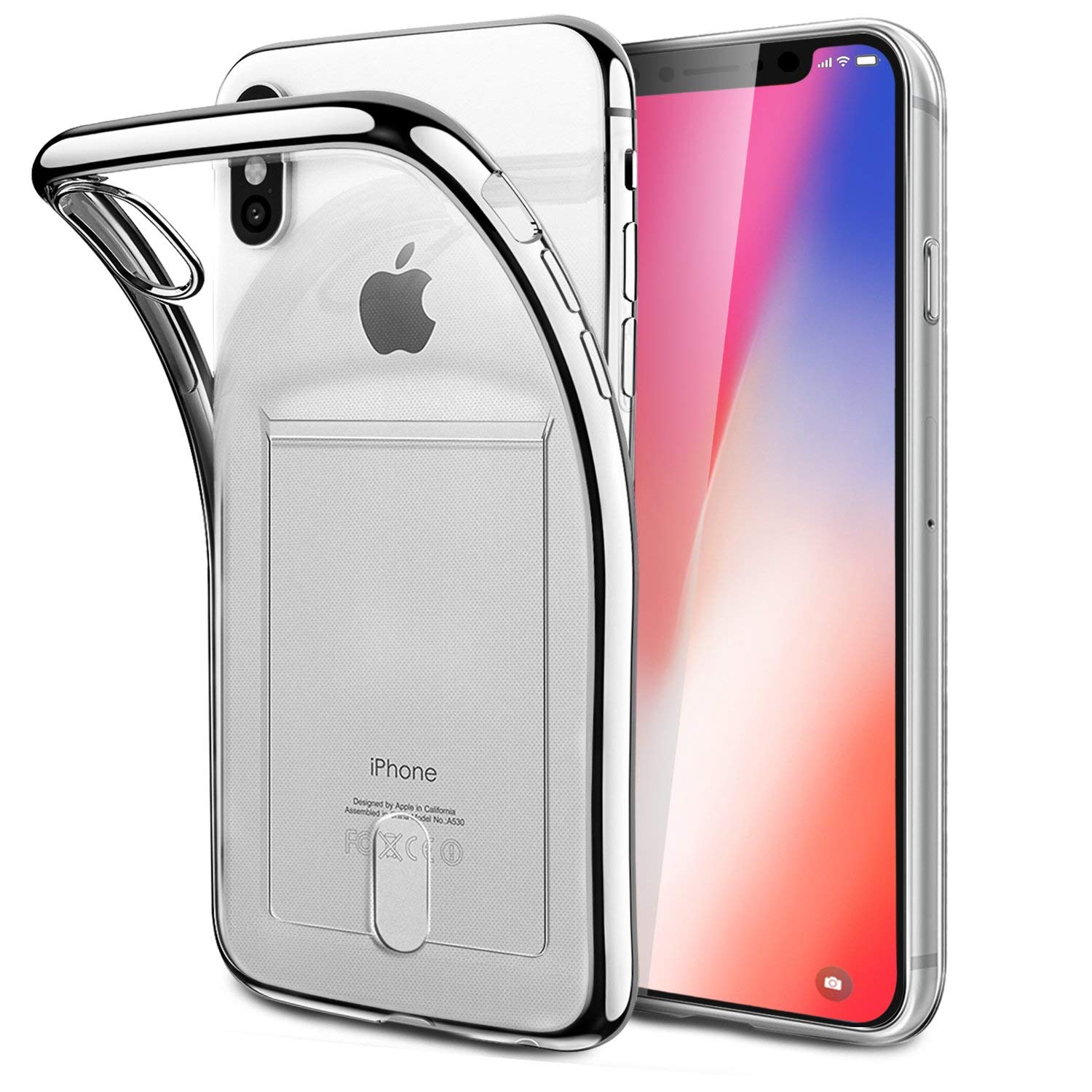 FOGEEK IPhone X Case, IPhone X Case [Slim Fit] Protective Soft Tpu Anti-Scratch & Shock-Absorbing Flexible Case With Card Slot For Apple IPhone X Crystal Clear