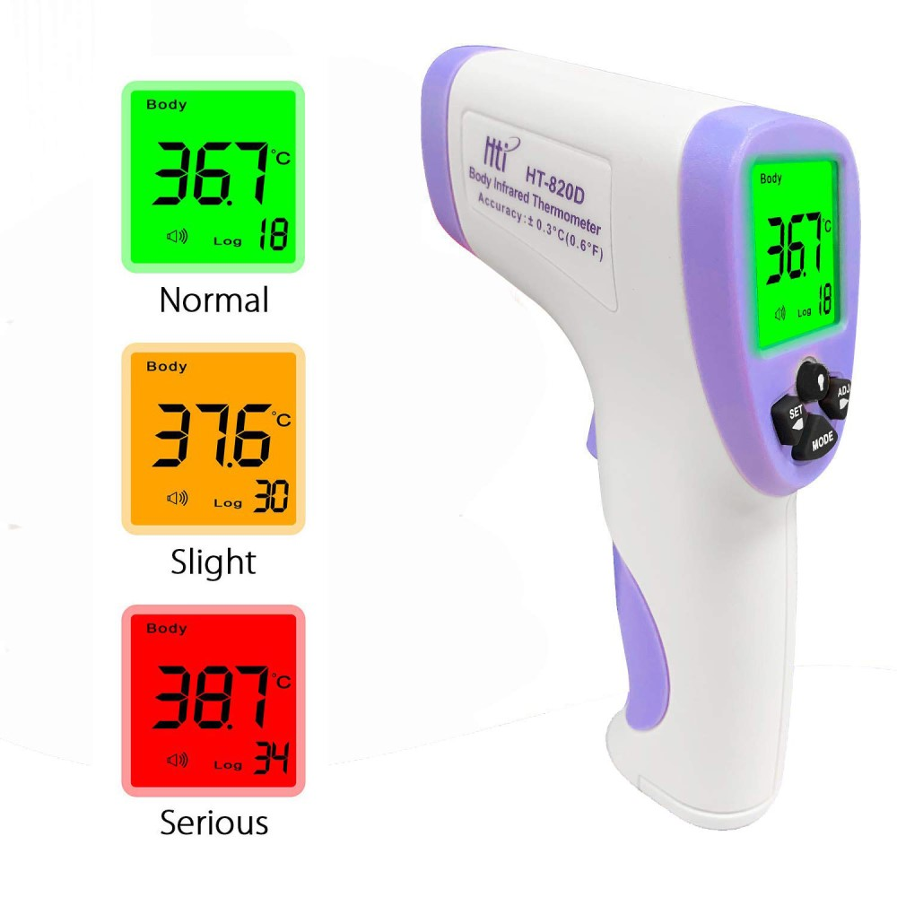Hti HT-820D Non-contact Infrared Forehead Thermometer CE/FCC/RoHS Certified