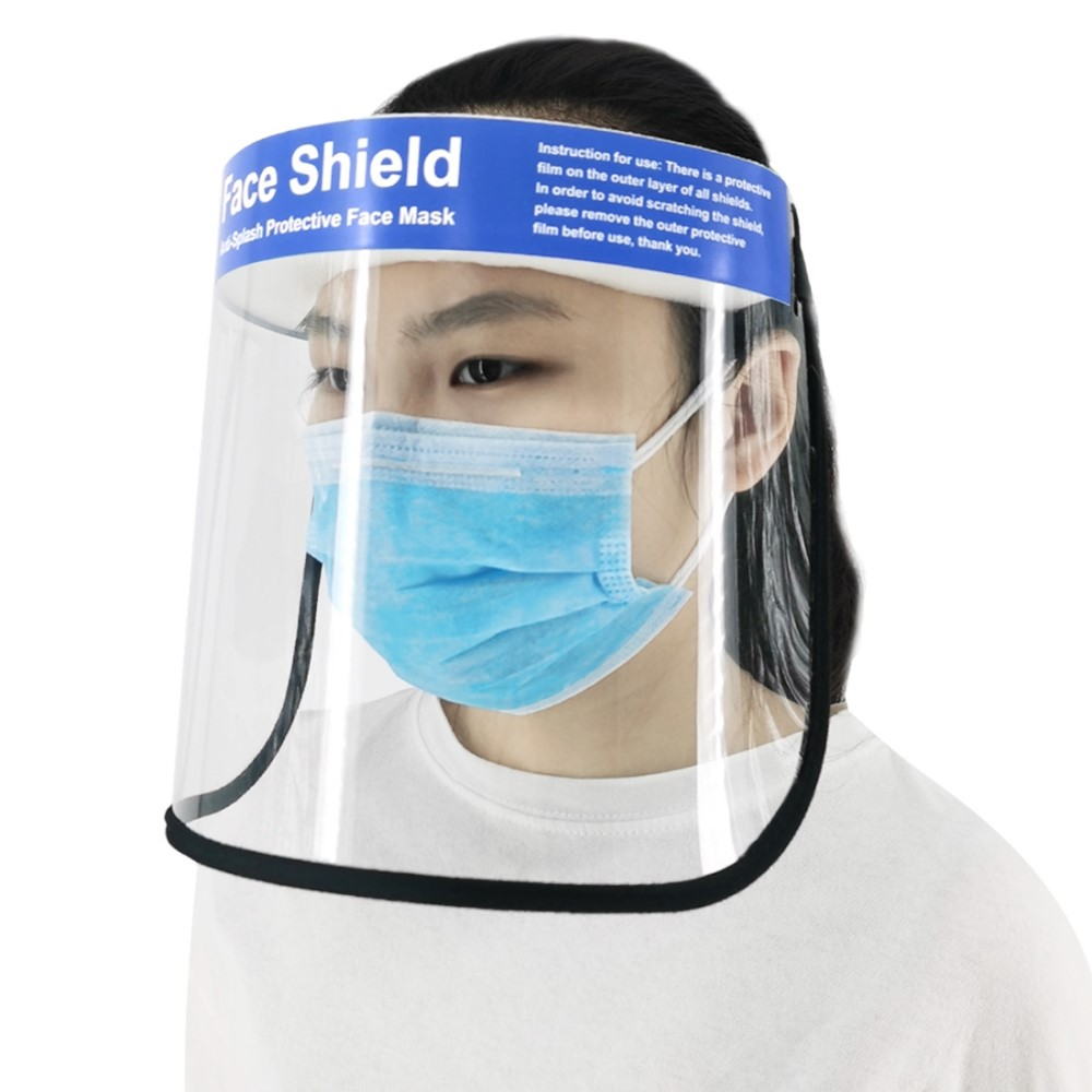 PULUZ PU465 Anti-splash Protective Face Mask HD Transparent PVC Face Shield