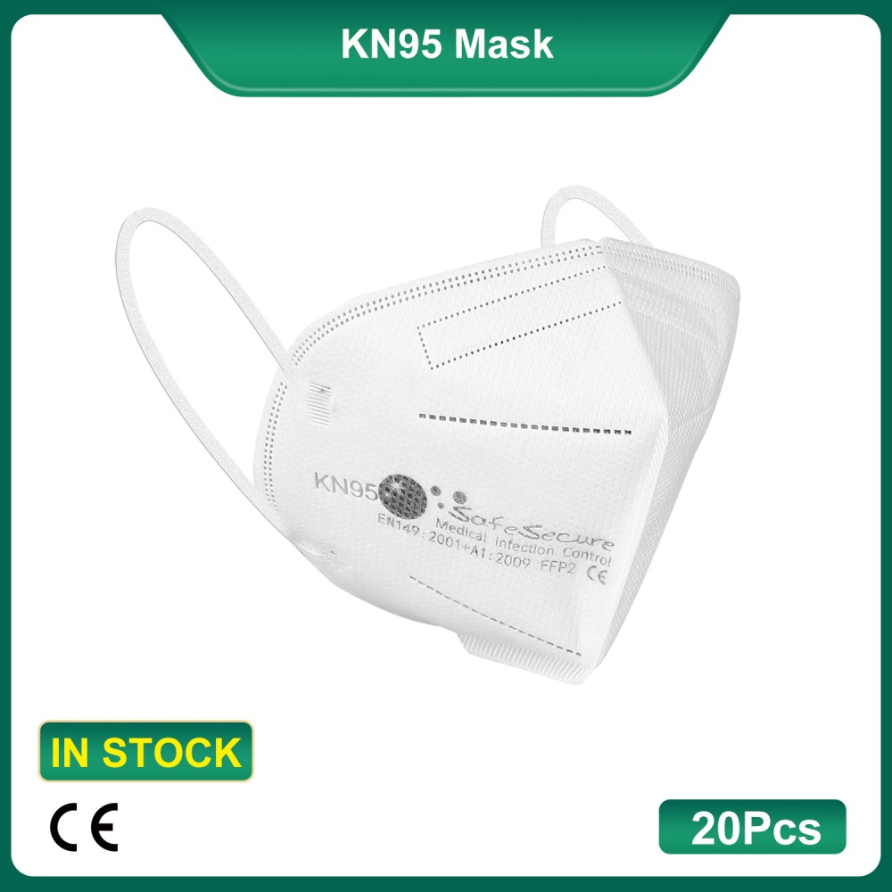(Best Selling)20Pcs/Box CE Certified KN95 Face Masks Dust-proof Mouth Facial Respirator