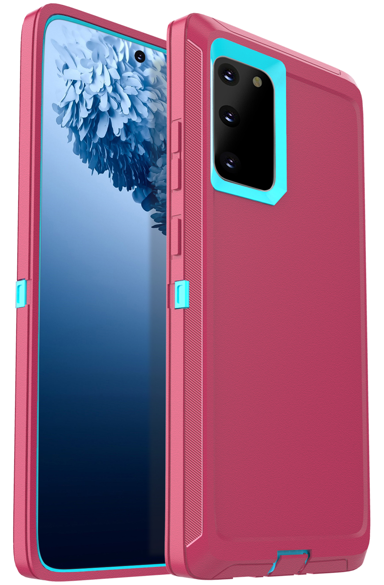 FOGEEK Compatible with Samsung Galaxy S20 5G Case, Heavy Duty Rugged Case, Protective Cover (Shockproof)(Drop Proof) Case for Galaxy S20 5G (6.2 inch) 2020 (Rose/Blue)